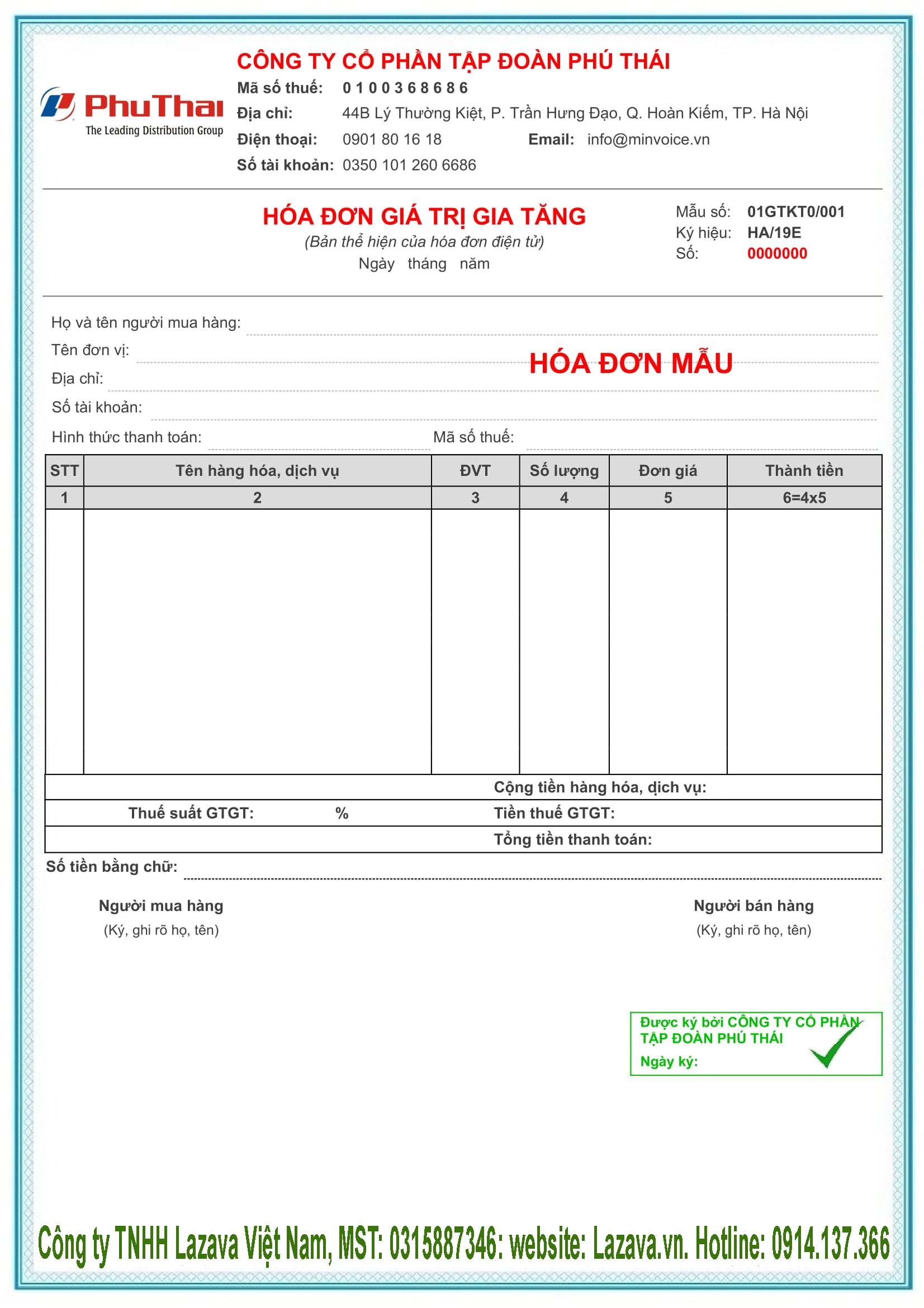 Mua hóa đơn điện tử Vina ở Phú Yên