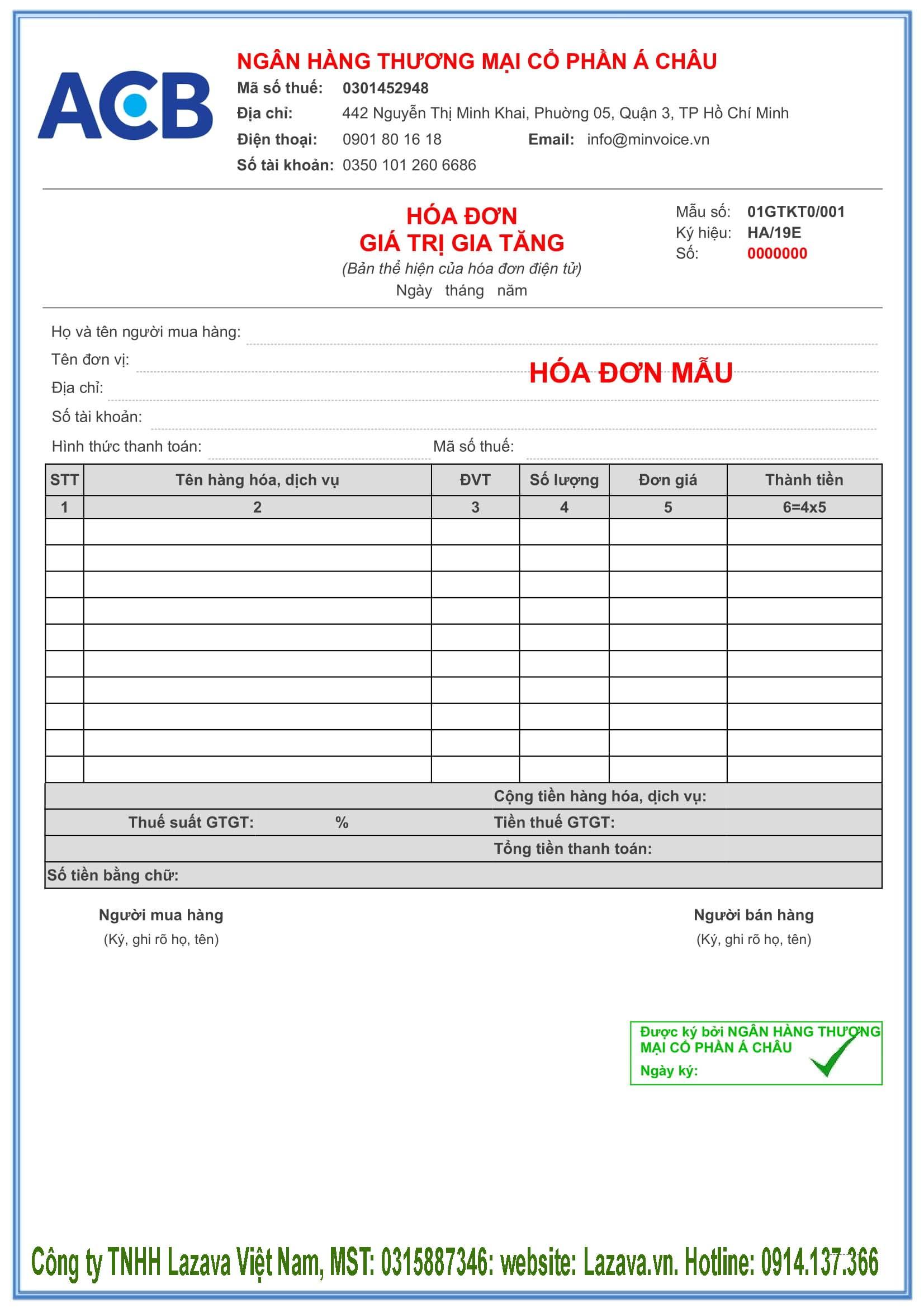 Mua hóa đơn điện tử Vina ở TP Hà Nội