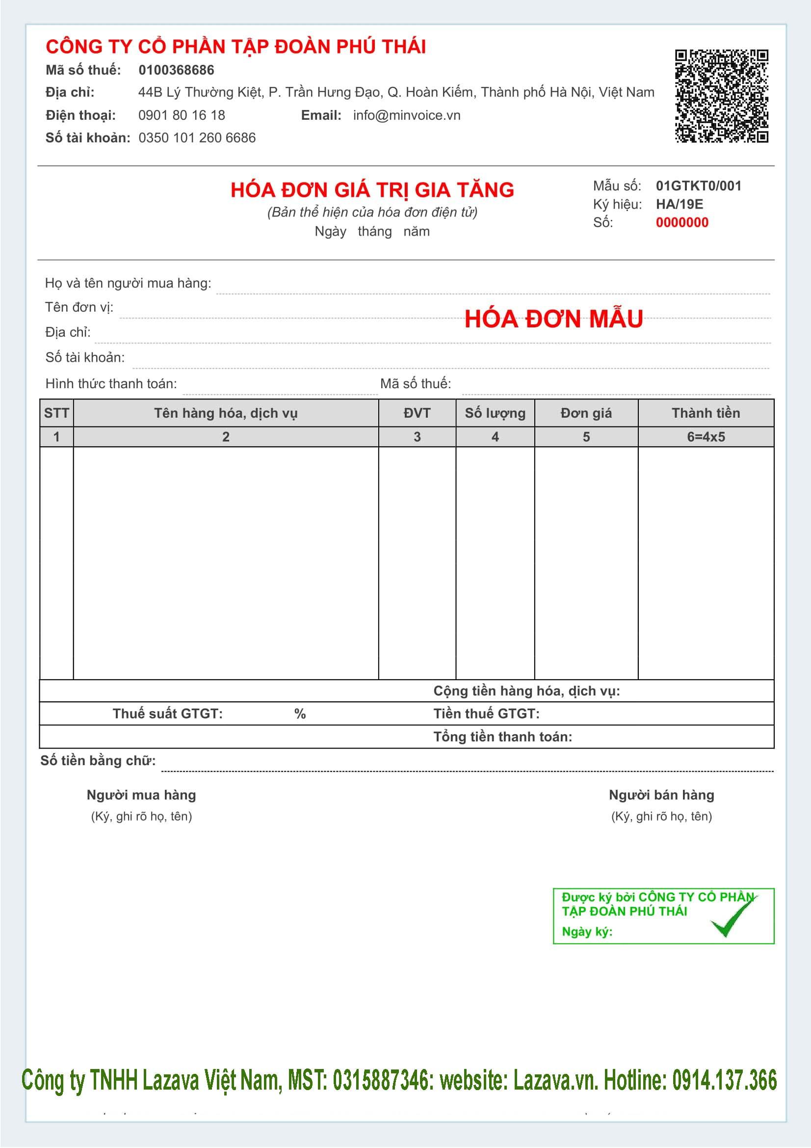Mua hóa đơn điện tử Viettel ở Hà Nội